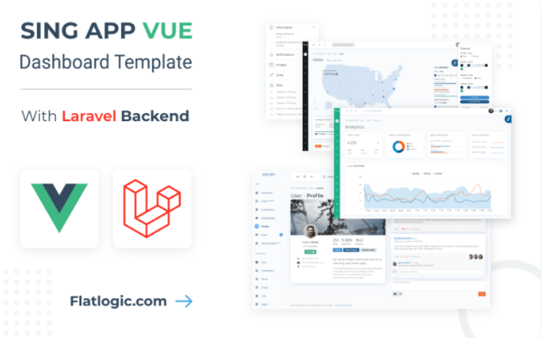 Premium Vue Laravel Template and Theme with Laravel PHP Backend