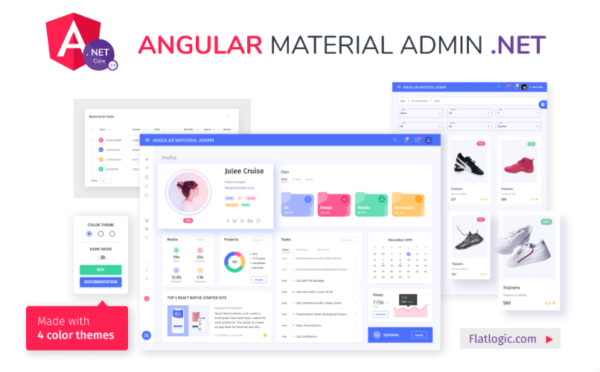 Angular Material Admin with .NET Core 3 backend